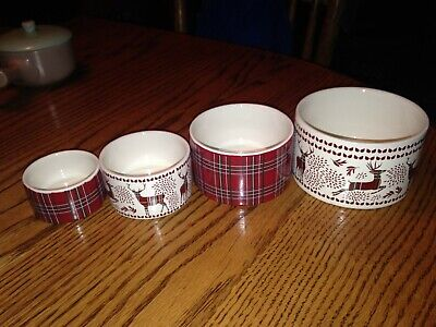 The Masterclass Bake Shop Holiday Measuring Cups Prep Bowls Nesting Set Of 4