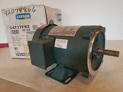 Leeson Wattsaver C4t17fk2c 3ph 12 Hp S56c Frame Rigid C New Old Stock
