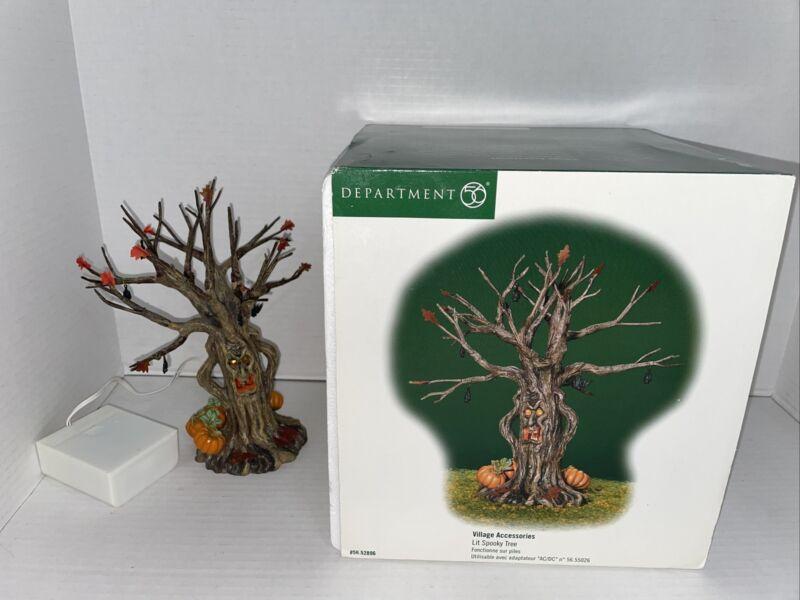 (Tested) DEPT 56 HALLOWEENLIT SPOOKY TREE # B-59 IN ORGINAL BOX Blinking Light