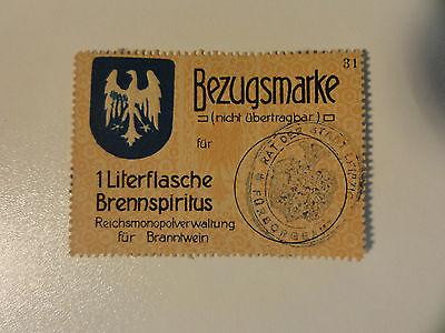 NOTGELD Bezugsmarke 1L BRENNSPIRITUS Leipzig  1 different  Nr.59