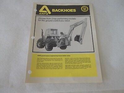 Arps Backhoes Brochure