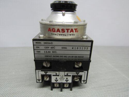 Agastat 2422AD 2.5-50 Sec Time/Delay/Relay