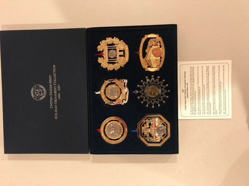 US Mint Holiday Ornament Collection - 6 piece set (1996 - 2001) RARE!