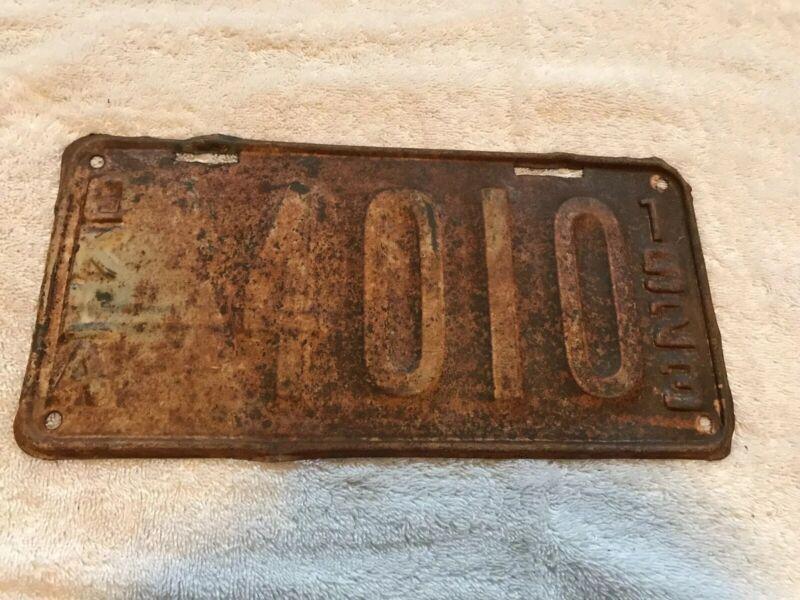 1923 Oklahoma License Plate 4010