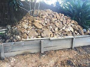 Sandstone - Dug out, rough blocks/rocks, various sizes South Turramurra Ku-ring-gai Area Preview