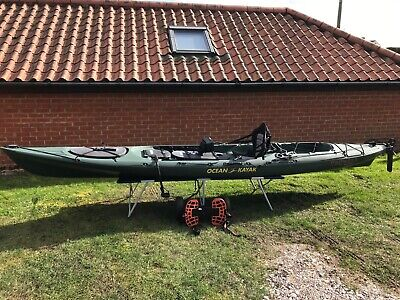 Ocean Kayak Prowler Trident 15 Kayak Fishing Boat, Humminbird Helix 5X SI GPS