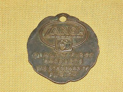 VINTAGE 1907-1930 ZANOL THE AMERICAN PRODUCTS CO OHIO AD MEDAL POCKET WATCH FOB
