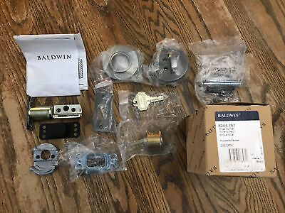Baldwin Hardware 8244.151 Single Cylinder Antique Nickel Keyed Deadbolt New