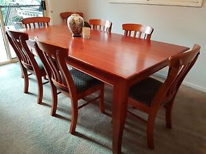 Dining table and 8 Chairs Riverview Lane Cove Area Preview