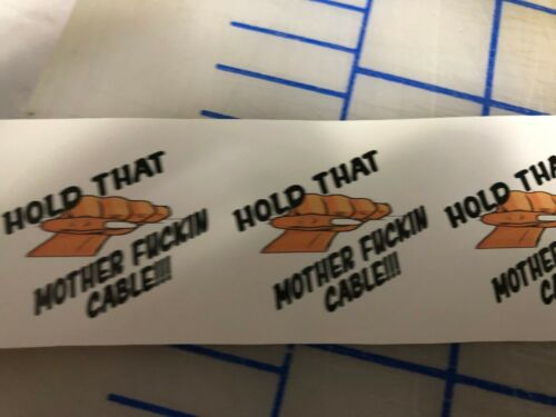 Funny HOLD THAT CRANE Hardhat Welding Helmet Sticker Construction Decal