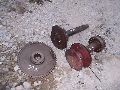 1939 Farmall M Tractor Ih Belt Pulley Assembly Parts Drive Gear Gears Shafts