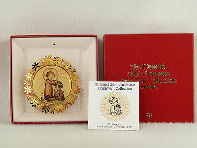Danbury Mint / Hummel Gold Christmas Ornament THE RENEWAL - Box (16)