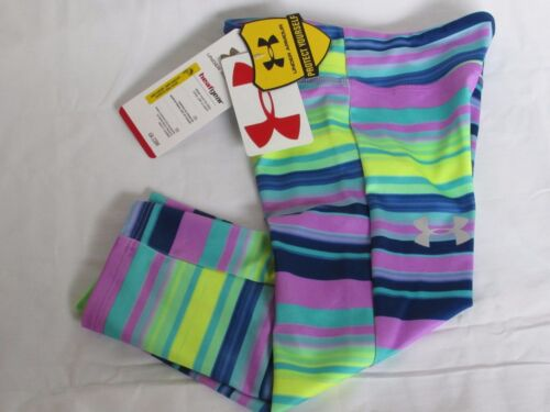 $34.99 Under Armour HeatGear Collection Multi Striped Capri Pants Youth Girls YS