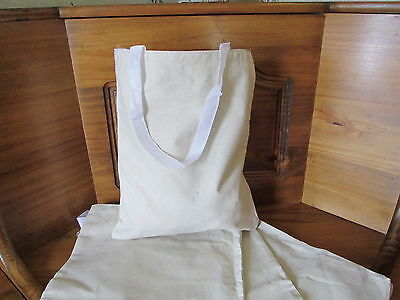 24 Natural CANVAS TOTE BAGS bulk FREE ...