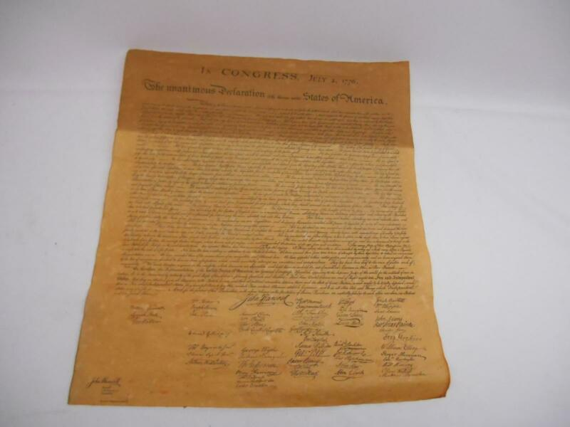 DECLARATION of INDEPENDENCE DOCUMENT Parchment Paper Hancock Life Insurance