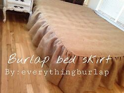 Sale !!! Today Only Burlap RuffleBed skirt Queen 16""