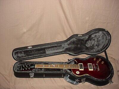 Epiphone Les Paul Tribute Plus Electric Guitar With Case Red Les Paul Guitar