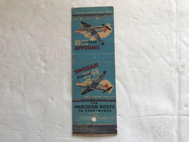 Swissair Douglas DC-6B Vintage Match Pack