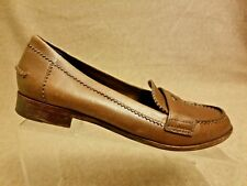 Tory Burch Women Shoes Leather Flats Brown Moccasins Slip ...