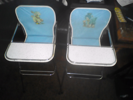 2 vintage doll high chairs