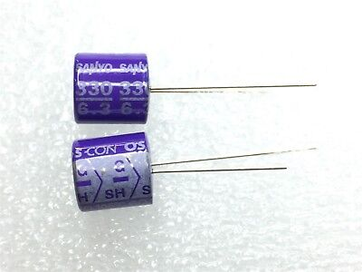 6sh330m Sanyo Capacitor 330uf 6v Thru Hole 12 Pieces