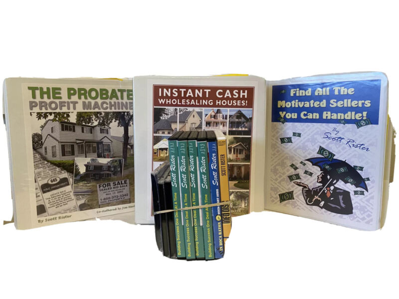 Scott Rister 3 courses, Probate , Find All the Motivated Sellers, Wholesaling