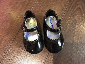 Baby Girl Black Dress Shoes Size 3
