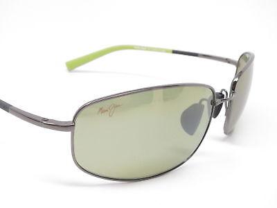 NEW Maui Jim Fleming Beach Gunmetal with Green Maui HT Sunglasses MSRP (Maui Jim Green Sunglasses)