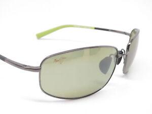 f600f20c3c4 NEW Maui Jim Fleming Beach Gunmetal with Green Maui HT Sunglasses MSRP $339