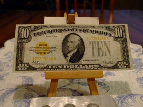 1928 $10 Legal Tender Gold Certificate FR# 2400,GREAT EYE APPEAL