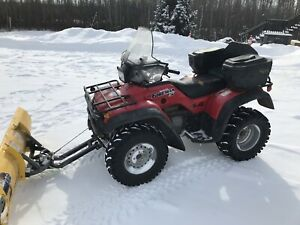 Honda 450 with plow