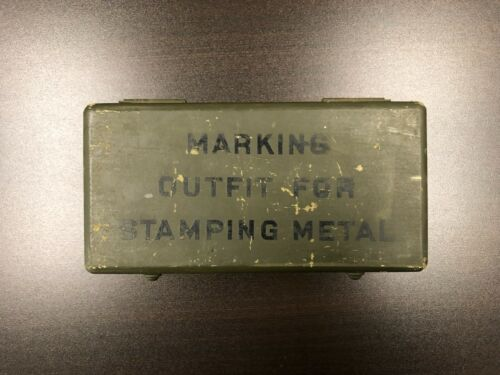 JAS. H. MATTHEWS & CO. Marking Outfit For Stamping Metal