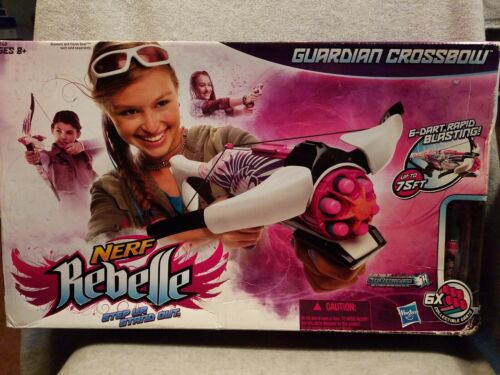 Nerf Rebelle Guardian Crossbow Blaster With 5 Collectible Darts New Bow Gun Open - $29.99
