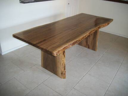SPOTTED GUM Hardwood timber slab dining / outdoor table -NEW Panania Bankstown Area Preview