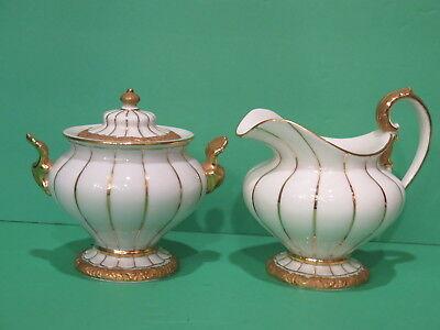 Meissen Golden Baroque Cream & Sugar Bowl