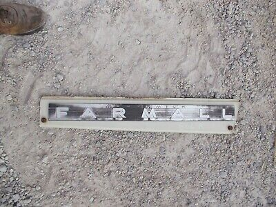 International Ih Farmall 806 Diesel Tractor Orgnal Front White R Side Hood Panel