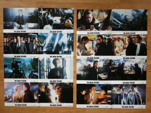 Ridley Scott BLACK RAIN - rare German lobby card set (16) Michael Douglas 1989