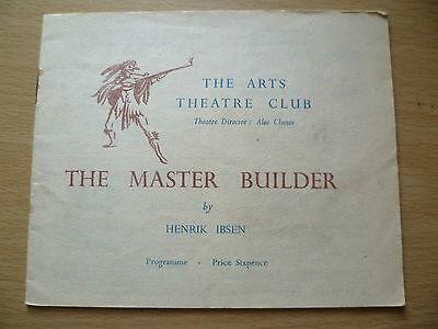 Arts Theatre Club Programme 1947- THE MASTER BUILDER