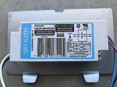 Philipsadvance Led Electronic Driver Xitanium 20 Watt 120277 Dimmable 120v