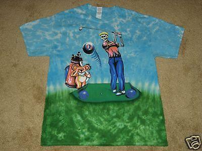 Grateful Dead Golfer S  M  L  Xl  2Xl  3Xl  4Xl Tie Dye T Shirt