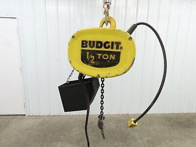 Budgit 12 Ton 1000lb Electric Chain Hoist 15 Travel 120v Single Phase 16fpm