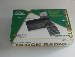 Oregon Scientific model cr-7630 traveler's clock radio with data bank