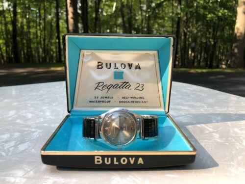 Vintage Bulova Regatta 23 Mens Wristwatch Self Winding Automatic in Box