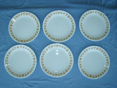 Corelle Golden Butterfly Luncheon Plates – 6 Pieces