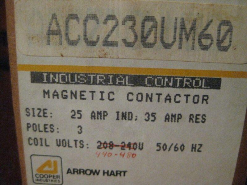3 pieces Cooper Arrow Hart Industrial Control Magnetic Contactor  relay   New