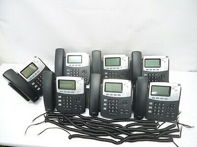 Lot Of 7 Digium D40 2-line Sip With Hd Voice Backlit Display Icon Keys
