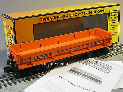 Mth Railking Csx Coal Dump Car Operating O Gauge Train Mine Ore 30 79454 New