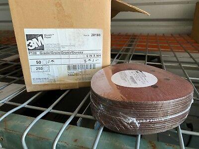 Case Of 250 3m Hookit Paper Dust Free Sanding Discs Ceramic 763u P120 6 Nos