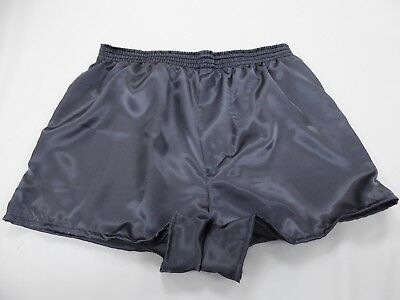 Medium Grey Satin (Charcoal  Grey Satin Boxer Shorts  in Medium with  Free Postage )