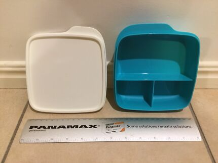 NEW Tupperware divided square lunch box